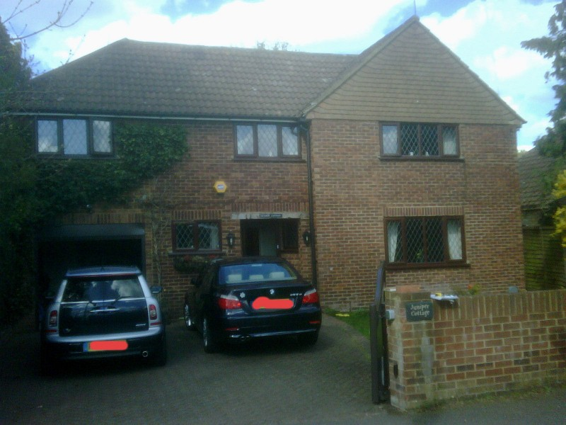 Brick cladding facelift to detached house
