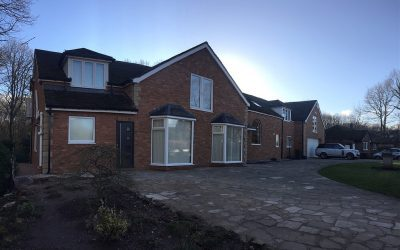 Brick cladding and corner stones fitted