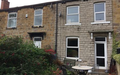 Lime render and pointing after cladding removed