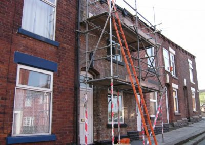 Old stone cladding removal
